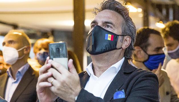 Justo Ruiz durant la presentació de la samarreta de l'FC Andorra.