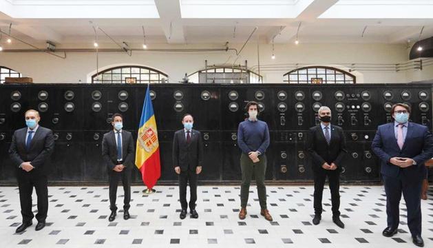 El cap de Govern amb els presidents dels grups parlamentaris