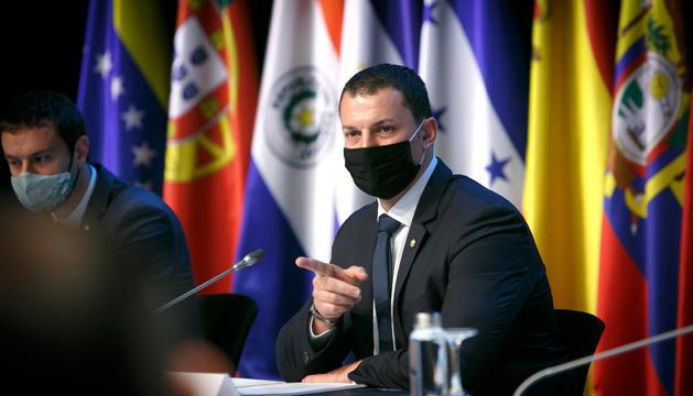 Jordi Gallardo, en la trobada ministerial iberoamericana d'aquesta tarda