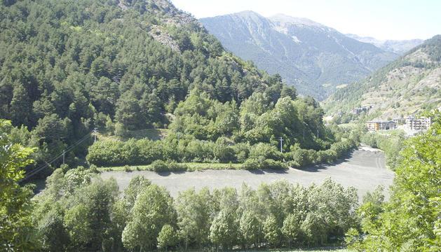 Vista del Prat de la Farga, una de les parcel·les que preveu elGovern.