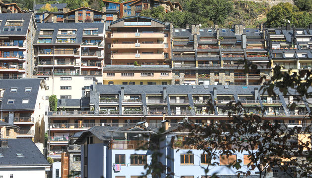 Un grup d'edificis residencials a Escaldes.