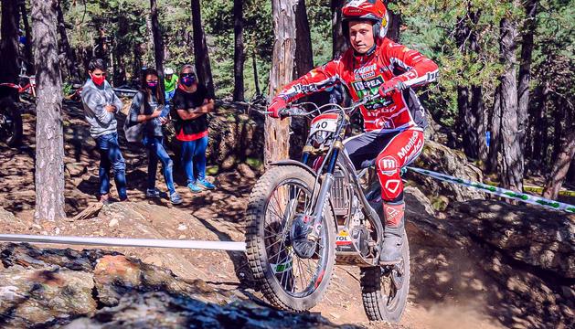 Jordi Lestang, campió d'Andorra de trial en categoria vermells