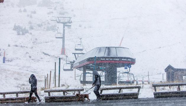 Una de les darreres nevades al sector de GrauRoig.