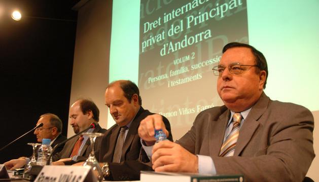 El difunt Ramon Viñas en un acte.