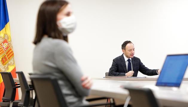 El cap de Govern durant la reunió