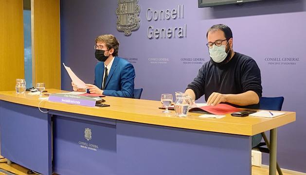 Els consellers generals Roger Padreny i Carles Sánchez