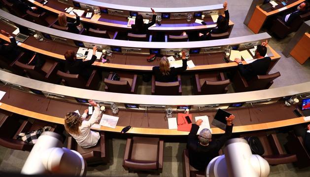 Un instant de la sessió del Consell General d'aquesta tarda