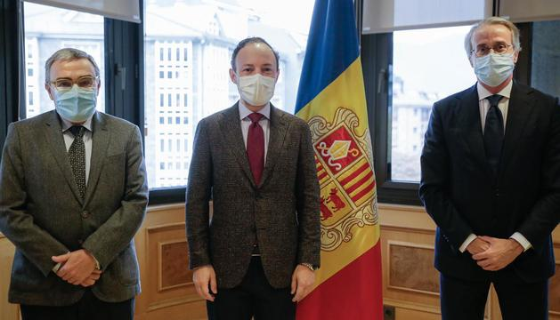 Xavier Espot, Javier Faus i Àngel Ros s'han reunit aquest matí
