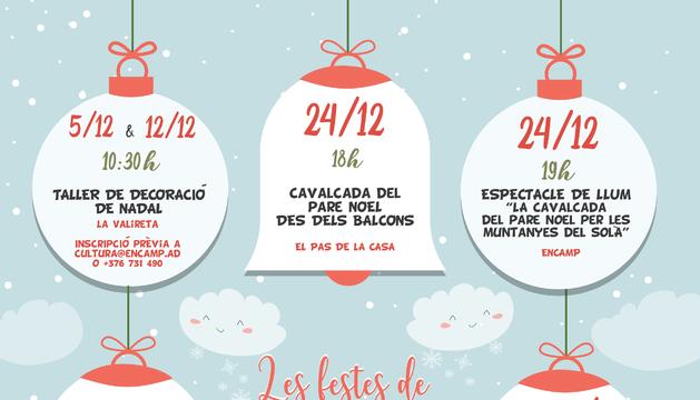 El cartell de les activitats nadalenques a Encamp i el Pas