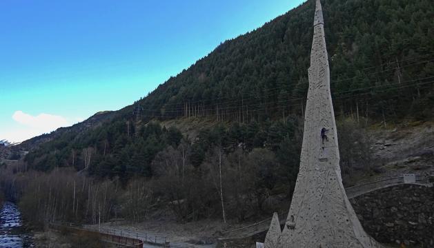 El mur d'escalada de Canillo reobre al públic