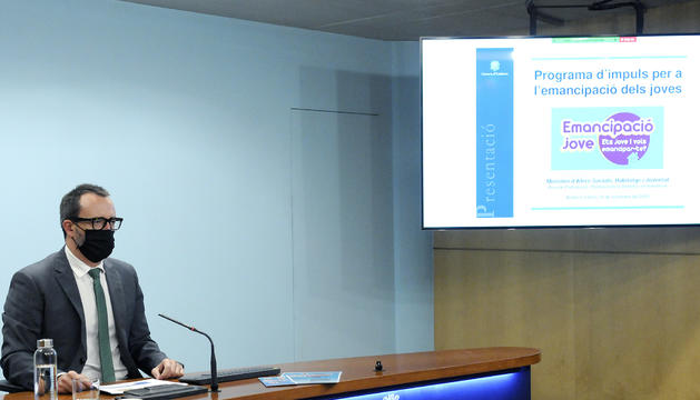El ministre Filloy durant la roda de premsa
