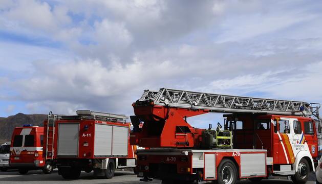 Un camió dels bombers.