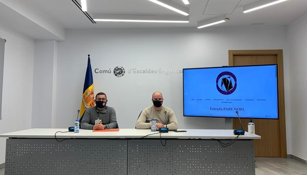 Jaume Ambor i marc Gonàlez, en la roda de premsa d'aquest matí