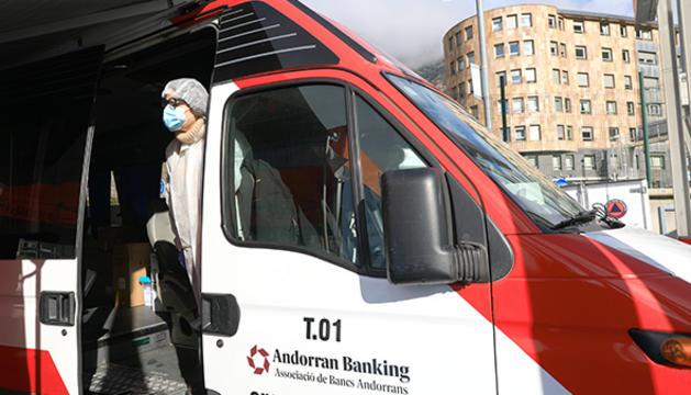 L''stop lab' mòbil s'ha instal·lat a l'aparcament la Valira de la capital, última parada de l'any.