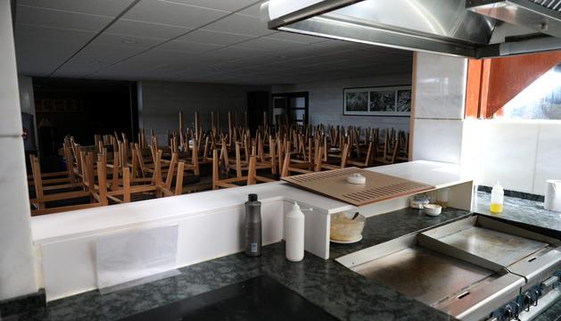 El menjador d'un hotel tancat a final de la setmana passada, una època que hauria de ser ja d'ebullició.