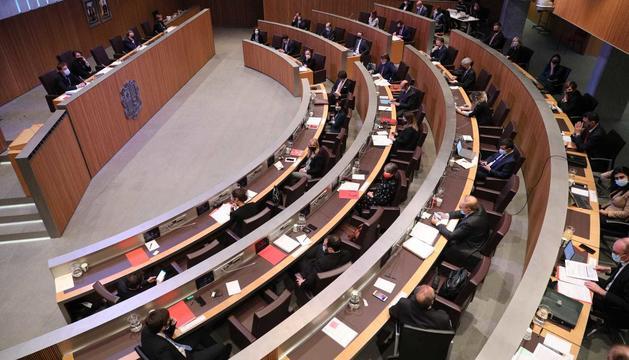 Un instant de la sessió del Consell General d'aquesta tarda.