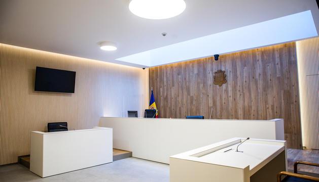 La sala de vistes on s'ha llegit la sentència.