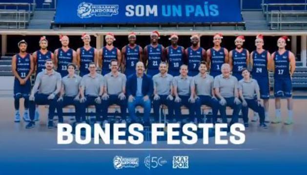 La felicitació de Nadal de l'equip tricolor