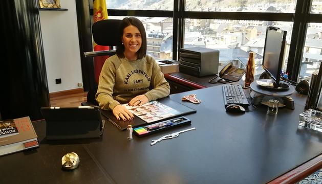 La cònsol major d'Encamp, Laura Mas, al seu despatx.