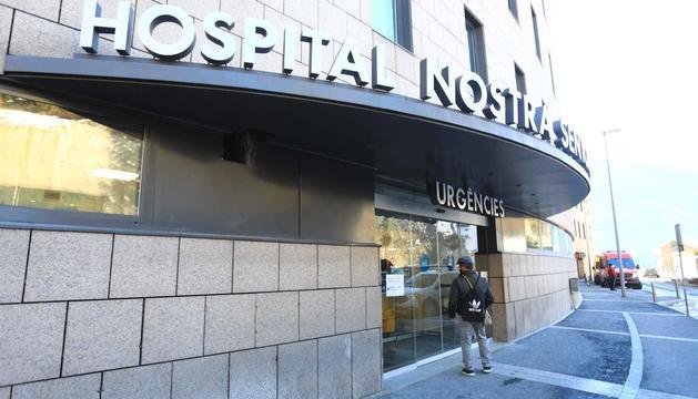 Entrada d'urgències de l'hospital Nostra Senyora de Meritxell