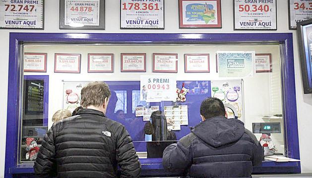 Un punt de venda de loteria.