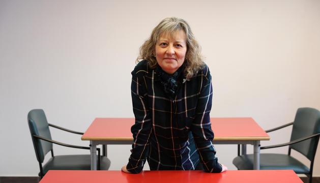 La presidenta de l'Associació de Trasplantats i Donants d'Andorra, Núria Gras.