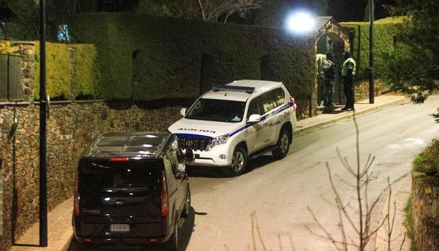 Exterior el xalet d'Andorra la Vella que va escorcollar la policia.