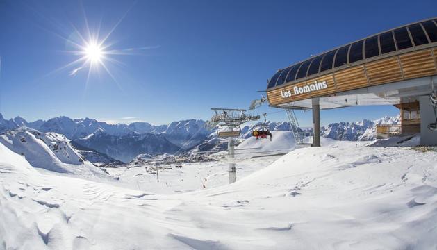 Una imatge de l'estació d'Alpe d'Huez.
