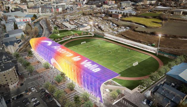 El projecte guanyador del concurs d'idees per al nou Estadi Comunal