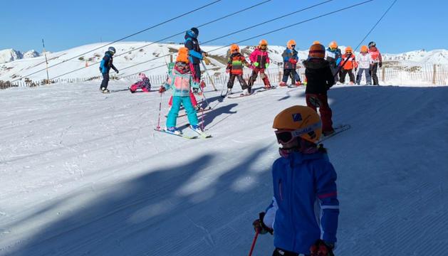 Alumnes de l'escola d'esquí, la passada temporada