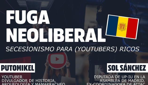 El cartell promocional de la xerrada a Youtube