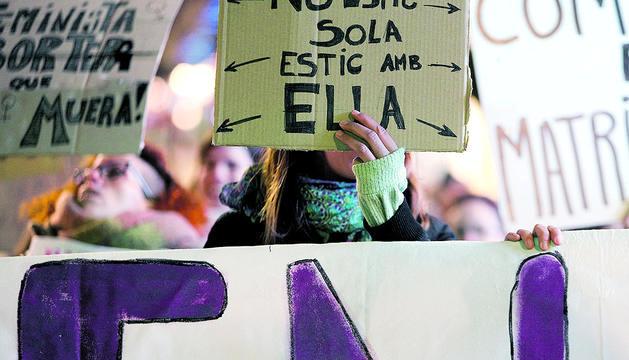 Manifestació feminista a favor dels drets de les dones del març passat.
