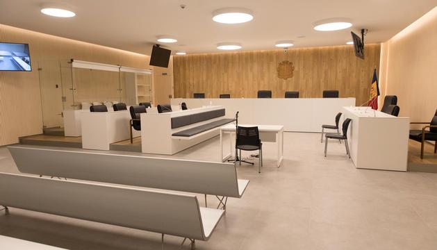 Sala de vistes de la nova seu judicial.