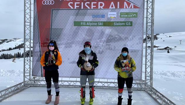 Carla Mijares va guanyar l'eslàlom FIS a Itàlia.