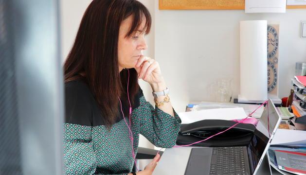 Mònica Bonell, en la sessió d'hivern telemàtica del Consell d'Europa.