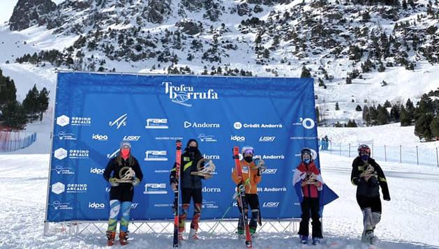 La delegació andorrana ja suma vuit medalles en les dues jornades del Trofeu Borrufa.