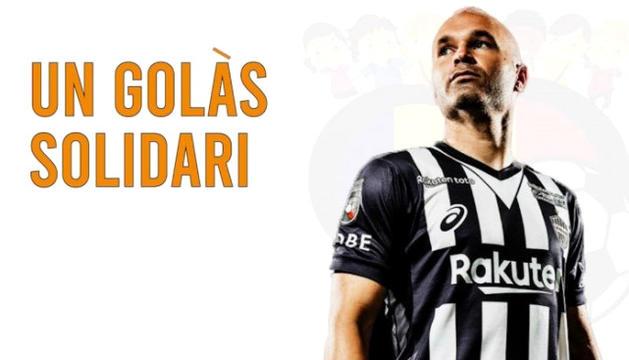 Andrés Iniesta ha cedit una samarreta a Gol Solidari.