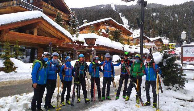 Els esquiadors de muntanya de la FAM, a Suïssa.