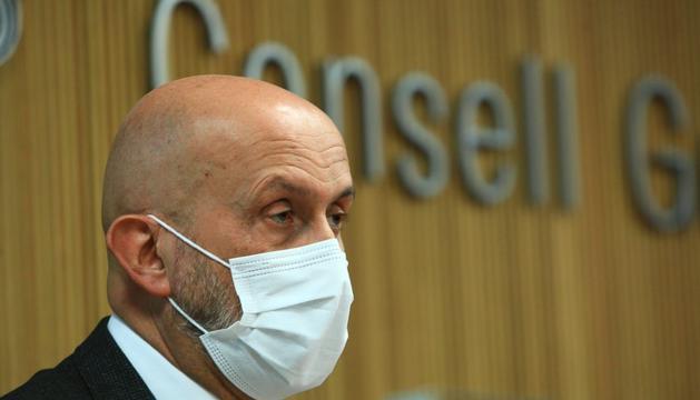 Joan Martínez Benazet aquesta tarda a la comissió de Sanitat