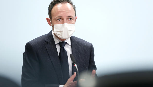 El cap de Govern, Xavier Espot, en una compareixença de premsa recent.