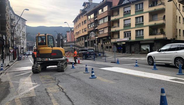 La Massana realitza obres per millorar el trànsit