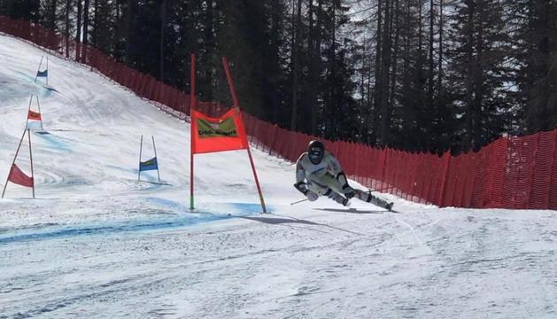 Joan Verdú a l'últim entrenament a Cortina d'Ampezzo.