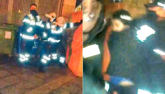 Imatges de l'incident a la plaça Dos Valires.