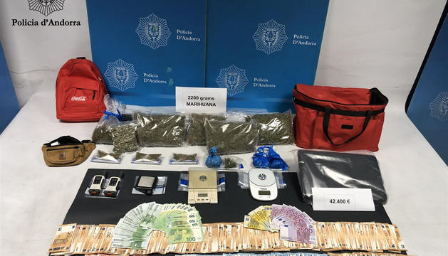 Droga i diners intervinguts per la policia
