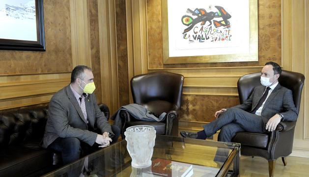 Xavier Espot i Jordi Fàbrega, en la trobada d'avui.