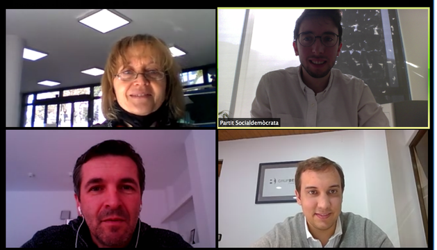 La reunió telemàtica de Padreny amb els representants de l'AIVA