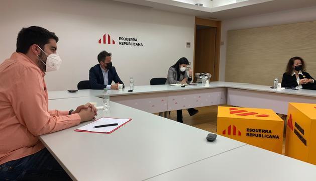 López i Baró a la seu d'Esquerra Republicana de Catalunya