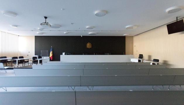 La sala magna de la seu de la Justícia.