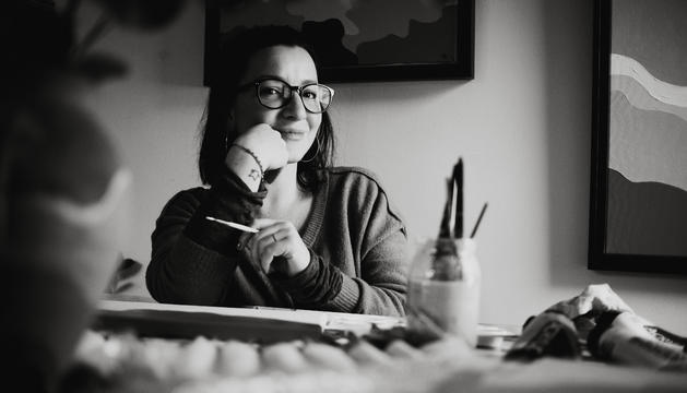 L'artista Sara Bagot