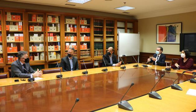 La reunió mantinguda avui amb diputats de Ciudadanos.